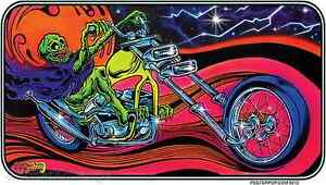 Dayglow Rider Sticker Decal Dirty Donny DD62 Chopper Motorcycle
