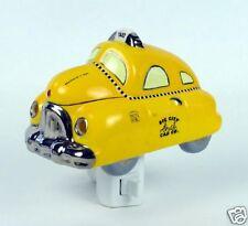 Henry Cavanagh Old School Big City Taxi Car 3D Ceramic Night Light With Chrome