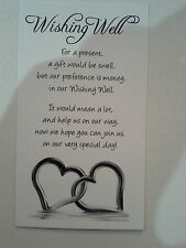 Wishing well cards Hearts in the water x 100pk