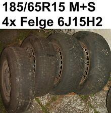 Winterreifen M+S runderneuert 185/65R15 RAD BMW Stahlfelgen 6J15H2 Komplettrad