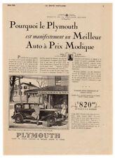 1930 PLYMOUTH 4-door sedan Vintage Original Print AD Car groceries art Canada FR