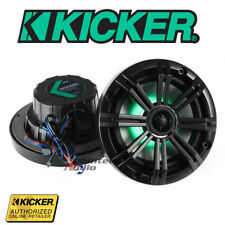 """Kicker 41KM654LCW 6.5"""" Marine Coaxial Speakers Led Multi Color"""