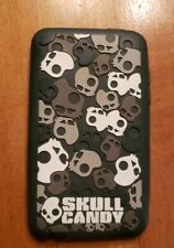 MP3 silicone cover 4 1/2 x 2 1/2. Skull Candy design, gently used