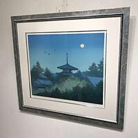 HIROSHI SENJU LITHOGRAPH ART PRINT RARE COLLECTIBLE WALL DECOR JAPAN F/S