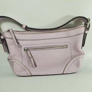 Coach East West Soft Duffle Lilac Purple Pebbled Leather Shoulder Bag F12321