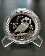 More details for 2018 niue athenian owl 1oz .999 fine silver coin in capsule