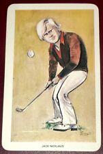 "1979 JACK NICKLAUS fmr PGA Golfer RARE GOLF cartoon world of sport ""FLIK"" card !"