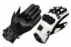 Motorcycle bike Scooter Short Sports Leather Carbon knuckle guard Summer Gloves