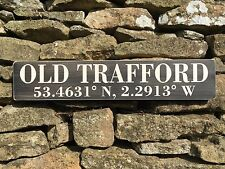 Old Trafford Sign Vintage Old Style Football Ground Manchester City United