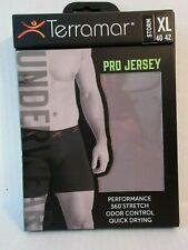 """Terramar Pro Jersey Storm Gray 6"""" Boxer Brief Underwear XL 40-42 360° Stretch"""