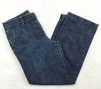 Ann Taylor Women's Size 12 MARGO Straight Leg Jeans Dark Wash Blue Mid Rise