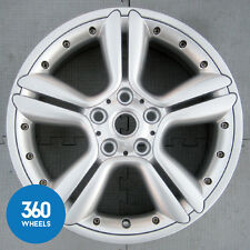 "GENUINE MINI 18"" COUNTRYMAN PACEMAN R127 5 STAR DOUBLE SPOKE SILVER ALLOY WHEEL"