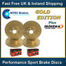Civic Type R FN2 Front Rear MTEC Gold Edition Drilled Grooved Brake Discs & Pads