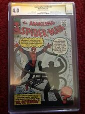 Amazing Spider-Man #3 7/63 CGC SS Stan Lee 1st Doc Octopus And Origin