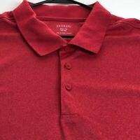 George Men's Short Sleeve Polo Pullover Shirt 3XL XXXL Red Casual Polyester
