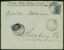 Finland 1909 cover/Russia 1904 10k & Finland 1901 20p
