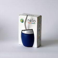 Mate y bombilla marca NELO. Nuevo, a estrenar. Color azul