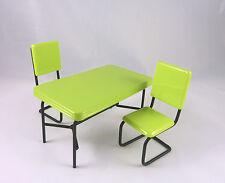 Dollhouse Miniature Retro Black & Green Dining Set, T5947