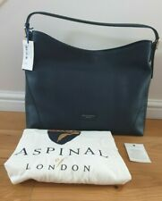 BNWT Authentic Aspinal of London Navy Leather Hobo Bag - RRP £350