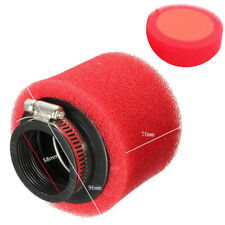 58mm Schwamm Luftfilter Rot For Motorrad Roller ATV Quad Dirt Pit Pocket Bike