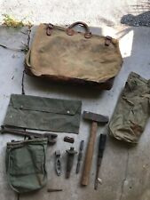 Vintage Bell Telephone System Canvas Tote Lineman Bags & Tools Hammer