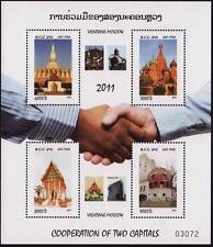 LAOS Bloc N°202** Bf Coopération Vientiane Moscou (Moscow), 2011 sheet  MNH