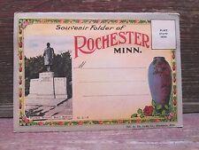 Vintage Postcard Folder Souvenir Of Rochester Minn.