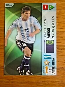 Lionel Messi football trade card Panini World Cup Goaaal! 2006 no. 106 rookie