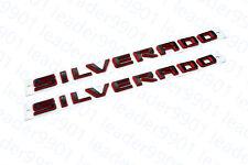 2019-2020 Chevrolet Silverado Door Silverado Black Red Emblem Custom Paint OEM