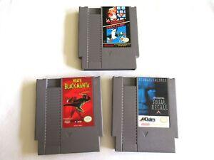 NES Nintendo Games Lot: Wrath Black Manta & Total Recall & Mario/Duckhunt Tested