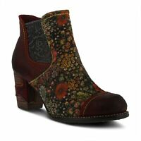 L`Artiste by Spring Step Women's Leather Booties Melvina in Bordeaux Multi