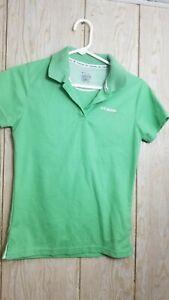 Columbia Titanium performance fishing gear youth medium polo shirt vented green