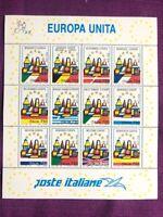 ITALIA REPUBBLICA 1993 FOGLIETTO EUROPA UNITA 1993 NUOVO facciale LIRE  9.000