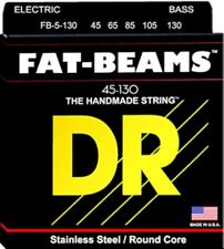 DR Bass Guitar Strings 5-String Fat Beams 45-130 FB5-130 Compression Wound