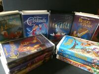 RARE Disney Movies Lot of 9 VHS Black Diamond Edition and Fantasia