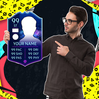 Create Ur Own UCL Champions League Personalised FIFA 20 FUT Football Foamex Card