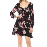 Cupcakes and Cashmere Jaylyn Dress 10 Floral Print Sweetheart Long Sleeve A-Line