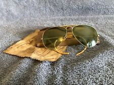 Vintage Ray-Ban Aviator Sunglasses Green Lens Bausch & Lomb 12K G.F. w/ Case