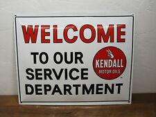 Vintage Style Kendall 16.5 x 12.5 Porcelain Enamel Welcome Service Dept Sign