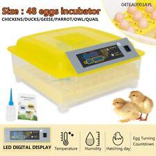 New listing 48 Digital Egg Incubator Hatcher Automatic Egg Turning Temperature Control Usa