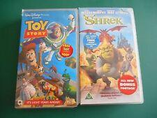 WALT DISNEY TOY STORY & SHREK VHS VIDEOS