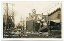 RPPC Ohio OH Dayton Flood 1913 Scene on East 5th Street
