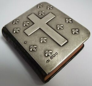 RARE ENGLISH ANTIQUE 1905 STERLING SILVER MOUNTED BOOK - THE IMITATION OF CHRIST