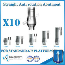 10X Straight Anti Rotation Abutments + Screws For Internal Hex Dental Implants