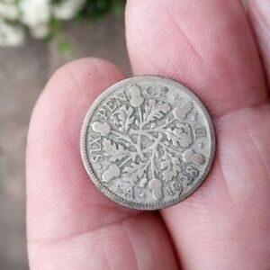 Silver Sixpence 1928
