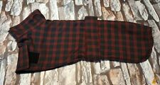 Whippet fabric coat 20inch 51cm dark navy and red check double layer