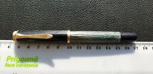 VINTAGE PELIKAN 400 GREEN Marbled STRIATED FOUNTAIN PEN 14 K 585 GOLD Nib German