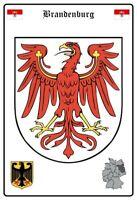 Brandebourg Allemagne Armoiries Panneau Métallique Plaque Voûté Étain Signer