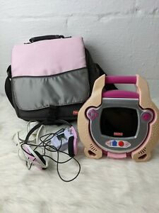 Fisher Price KID TOUGH Portable DVD Player Pink Works, With Bag, Headset And...