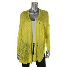 Kensie 5635 Womens Green Slub Open Front Cardigan Sweater Juniors S BHFO